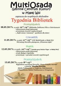 Plakat Tydzien Bibliotek
