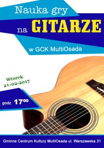 plakat gitarowy
