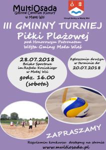 plakat-siatkowka piłka plażowa 2018