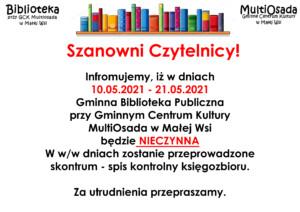 Informacja-biblioteka-nieczynna-skontrum